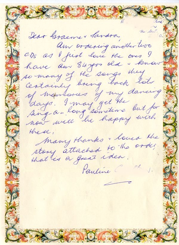 Letter from Pauline in Appin, NSW