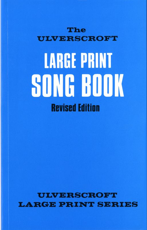 Blue Large Print Song Book